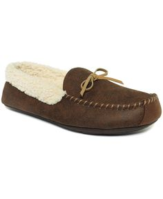 Club Room Men's Slippers, Aaron Sherpa-Lined Moccasins
