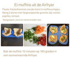 Ei muffins uit de Airfryer. 10 minuten, 165 graden. AK