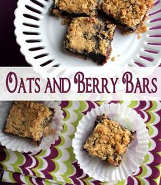 Oats and Berry Bars