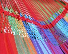 Detail van de Rainbow Two Large hangmat