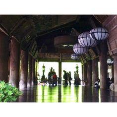 新緑映り込む長谷寺