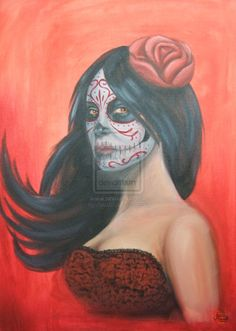 Day of the Dead on Red by ~Xorn01 on deviantART