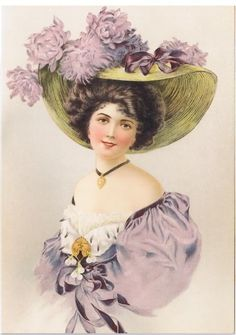 ideas vintage drawing women victorian ladies for 2019 Images Vintage, Photo Vintage, Vintage Pictures, Vintage Prints, Vintage Art, Vintage Ladies, Victorian Hats, Victorian Women, Vintage Ephemera