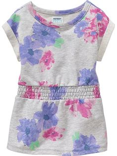 Floral Terry-Fleece Dresses for Baby Product Image
