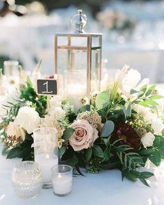 chic winter wedding centerpiece