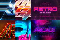 80s Text Effects by Zeppelin Graphics on Creative Market