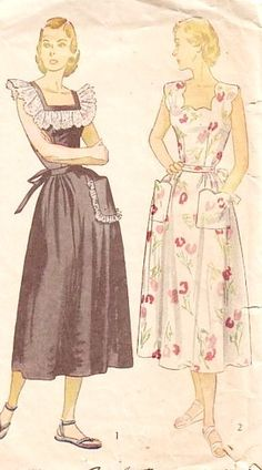 """1940s Sun or House Dress Vintage Sewing Pattern, Simplicity 2478 bust 30"""". $18.00, via Etsy."""
