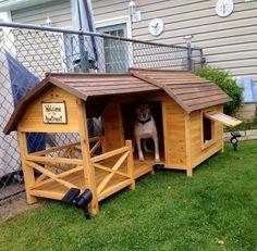 Impressive dog house.
