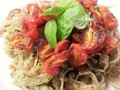 Le tagliatelle di ceci e canapa con pomodorini confit sono un gustoso primo piatto, leggero e salutare, adatto al gruppo sanguigno 0.