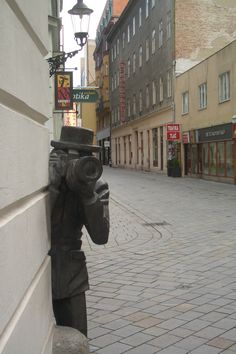 Bratislava Bratislava Slovakia, Quirky Art, Public Art, Czech Republic, Urban Art, Sculpture Art, Night Life, Statues, Travelling