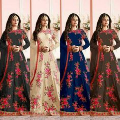 Drashti Dhami Embroidered Anarkali Suit  Fabric Details :- Code : 7002 Top :- Banglori silk embroidery work with back work with sleeves work with inner Semistiched up to xxl Flair :- 3m approx Bottom :- Santoin Dupatta :- net febric Colors-Off white  Black Brown Blue Green  Price : 1900 INR Only ! #Booknow  CASH ON DELIVERY Available In India ! World Wide Shipping !  For orders / enquiry  WhatsApp @ 91-9054562754 Or Inbox Us  Worldwide Shipping !  #SHOPNOW  #indianwear #ethnicwear #bollywood…
