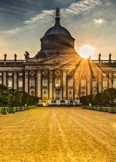 Neues Palais Potsdam (Brandenburg) Neues Palais, Potsdam Germany, Berlin Brandenburg, Colorized Photos, Royal Residence, Travel Goals, Germany Travel, Travel Inspiration, Places To Go