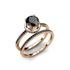 Do you want to buy the bridal set ring? Then I must say this black diamond bridal set ring s the great choice for you. Best price ever. Halo Diamond Engagement Ring, Diamond Wedding Rings, Wedding Ring Bands, Engagement Rings, Gold Wedding, Black Diamond Bands, Black Diamond Jewelry, Wedding Sets For Her, Moissanite Wedding Rings