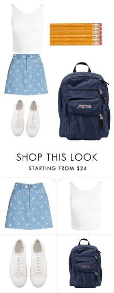 """Old Time Fashion"" by lenoraloveslames ❤ liked on Polyvore featuring Marc Jacobs, Sans Souci and JanSport"