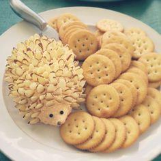 Cute hedgehog cheeseball for a baby shower by CecyMar