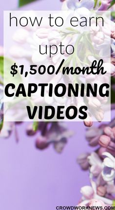Captioning is one of the most fun work-at-home careers. If you love watching TV, then this could be one the best perks to do that. Find out how you can work from home as a Video Captioner and earn upto $1,500 a month. #sidehustle #workfromhome #workathome