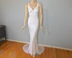 Hey, I found this really awesome Etsy listing at https://www.etsy.com/listing/228708704/white-lace-wedding-dress-mermaid-wedding