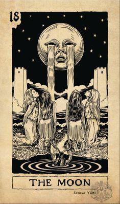 The Moon Senior arcana - Arcane Limbus Tarot