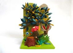 Jackalope  Limited Edition Ceramic Mini Sculpture by PearsonMaron, $210.00