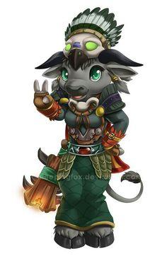 World of Warcraft. Cute Tauran #WorldofWarcraft