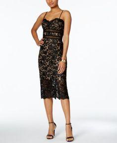 XSCAPE Lace Sheath Dress   macys.com