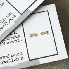 Gold filled (or sterling) Arrow Stud Earrings $13 via amycornwell.com