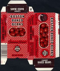 Ferrara Pan - Boston Baked Beans two-sided candy box - 1970's by JasonLiebig, via Flickr