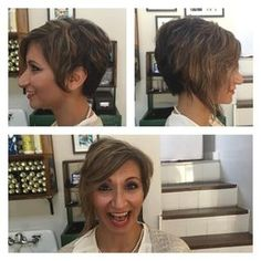Liberated salon - Los Angeles, CA, United States. Asymmetrical cut on Megan's client!