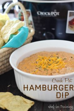 Crock Pot Hamburger Dip... This dip is so easy to make and is a definite crowd pleaser!