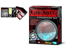 With the Great Gizmos Kidzlabs - Finger Print Kit you can identify suspects and record important clues at the scene of the crime with this fun fingerprint kit! Contains dusting powder, 10 fingerprint record cards, stamp pad, magnifying glass, 20 stickers for collecting fingerprints along with a brush and all packed in a handy plastic case with detailed instructions and fun facts.