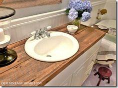Master bathroom idea. Really like the countertop!