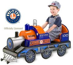 Morgan Cycle Lionel Pedal Train      Whooooo Whooooooo!!!!! We are pleased to introduce the first pedal train in Lionel Train's history. This pedal car is made of quality all-steel construction and features realistic locomotive sounds along (2 AA batteries) with a ringing chrome bell.