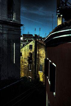 Dark Village Scene Art Print