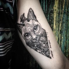 """""""Eu sei que um dia voltaremos a nos encontrar em algum lugar no espaço"""" - Gatinha Sofia eternizada na pele do Lucas pela tatuadora @7anyamaia em @stefanostattoogallery Lima - Peru  ____________________________________  #tattoo #ink #stefanostattoogallery #taniamaia #astattooistas #cat #kitty #memorytattoo #gatinha #gato #dotwork #linework #instanow"""