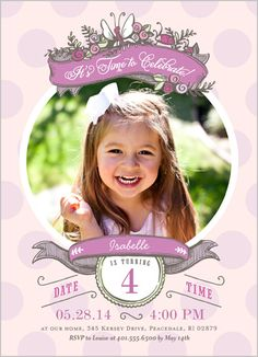 Butterfly Frame Birthday Invitation