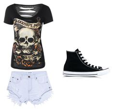 """summer outfit"" by nicole-296 on Polyvore featuring OneTeaspoon and Converse"