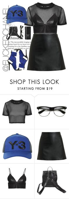 """""""Y-3"""" by fuckedchanel ❤ liked on Polyvore featuring Topshop, ShoeDazzle, Y-3, T By Alexander Wang, Giro and Tom Ford"""