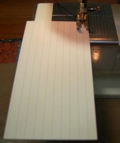 Tips for getting 1/4 inch seam allowance - using an index card