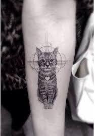 Znalezione obrazy dla zapytania tatuaż kot