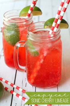 Delicious recipe for Sonic's Cherry Limeade - tastes just like it! { lilluna.com }