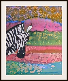 MaryMaking: Zebras with Watercolor and Salt Landscapes