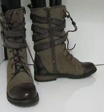 WO'S Lace Rugged Military Combat Motorcycle Riding Winter boot SIZe 6