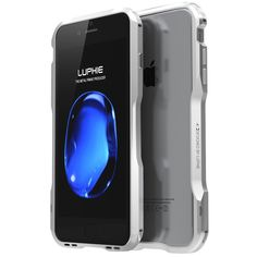 iPhone 7 Case , LWGON New Design Metal Bumper Aluminum Alloy Metal Frame Shockproof Protective Case With Screw for iPhone 7 (sharp silver)