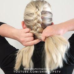 Hair Tutorials For Medium Hair, Braided Hairstyles Tutorials, Dutch Braid Tutorials, Diy Hairstyles, How To Braid Dutch, Dutch Vs French Braid, Dutch Hair, Hairdo For Long Hair, Easy Hairstyles For Long Hair