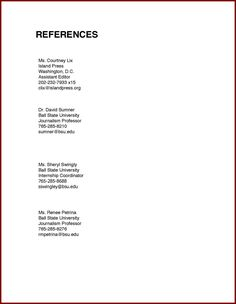 reference example for resumes