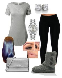 """""""#379"""" by o0dejah0o ❤ liked on Polyvore featuring UGG Australia, Tiffany & Co., MICHAEL Michael Kors and Rolex"""