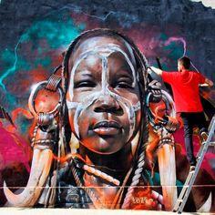 Artwork (mural) by XAV Instagram : @xavtattoo Facebook : XAV  Arte Sem Fronteiras : Twitter.com/artesfronteiras Facebook.com/artsemfronteiras Instagram.com/artesemfronteiras  #graffiti #spray #artederua #mural #arteurbano #artsemfronteiras #urbanart #streetart #sprayart #xav #tattoo