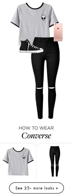 """././../././///////.."" by anna-mae-equils on Polyvore featuring Chicnova Fashion, Converse, women's clothing, women, female, woman, misses and juniors"