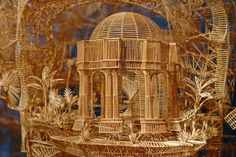 "35 Years to Build a Toothpick Sculpture...""Scott Weaver used 100,000 toothpicks, 35 years, and 3,000 hours to build this incredible toothpick sculpture titled Rolling through the Bay. It is an amazing sculpture of San Francisco.""    Thanks to Sharon Alvarez for sharing this..."