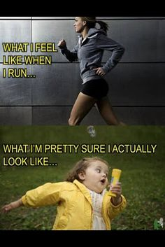 I just started a new workout regime. I find this hilarious. And probably exactly what I look like on the treadmill!